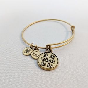 "Alex and Ani Gold ""It is What it is"" Charm Bracele"